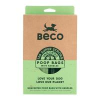 Sacs à crottes pour chien - Grands sacs à crottes avec poignées Beco