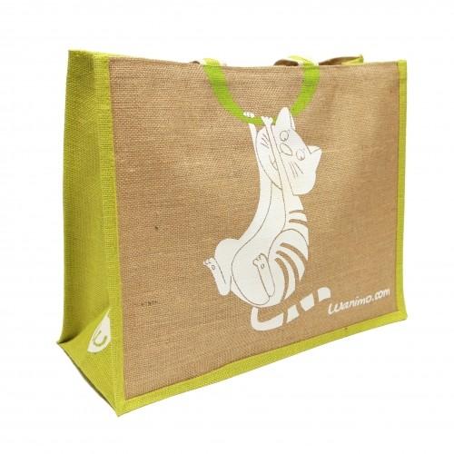 Accessoires chien - Sac cabas en toile de jute pour chiens