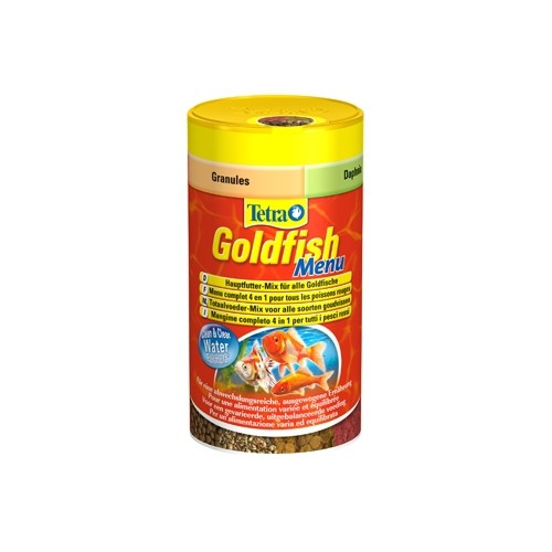 Goldfish menu aliments pour poisson rouge tetra wanimo for Alimentation guppy poisson rouge