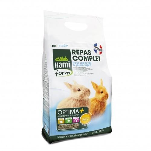 Aliment pour rongeur - Optima + pour jeunes lapins pour rongeurs