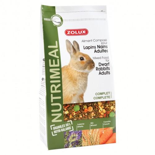 Aliment pour rongeur - Nutrimeal lapins nains adultes pour rongeurs