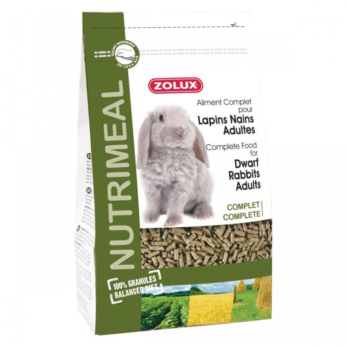 Aliment pour rongeur - Nutrimeal granulés lapins nains adultes pour rongeurs