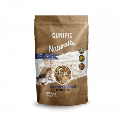 Aliment pour rongeur - Naturaliss Hamster & Gerbille pour rongeurs