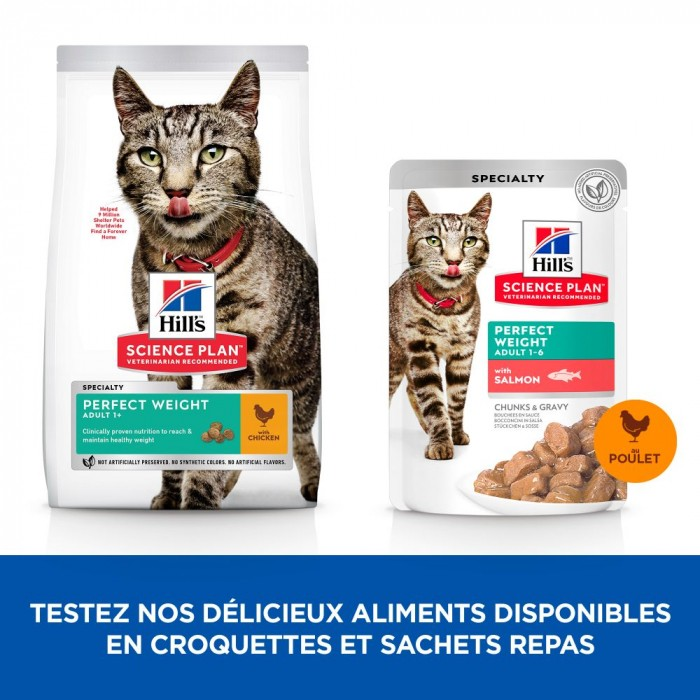 Objectif poids idéal - Hill's Science Plan Perfect Weight Adult pour chats