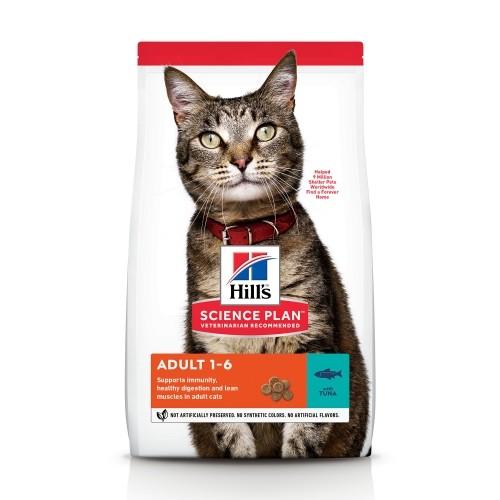 Alimentation pour chat - Hill's Science plan Adult - Croquettes pour chat adulte au thon pour chats