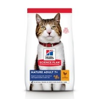 Croquettes pour chat de plus de 7 ans - HILL'S Science plan Mature Adult 7+
