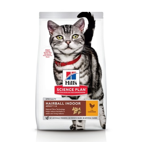 Alimentation pour chat - Hill's Science plan Hairball Indoor Adult pour chats