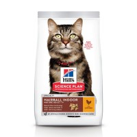 Croquettes pour chat de plus de 7 ans - HILL'S Science plan Hairball Indoor Mature Adult 7+