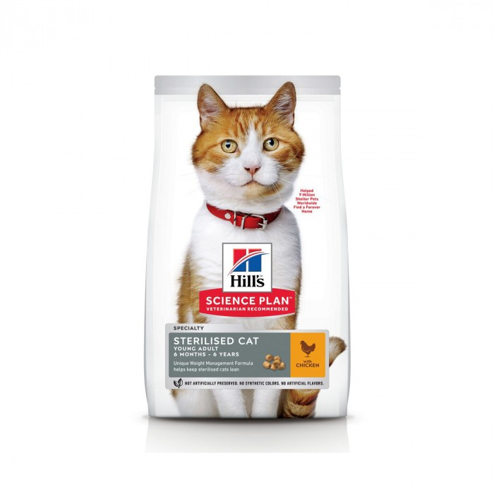 Alimentation pour chat - Hill's Science Plan Sterilised Cat Young Adult Poulet pour chats