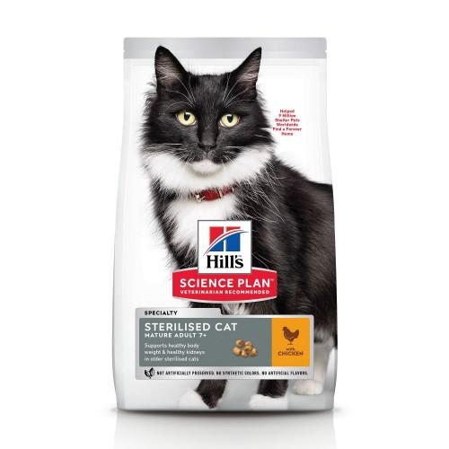 Croquettes pour chat - HILL'S Science Plan Mature Adult 7+ Sterilised Cat