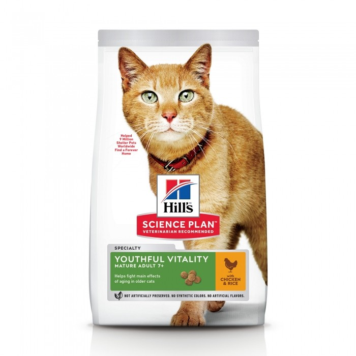 Alimentation pour chat - Hill's Science plan Senior Vitality Mature Adult 7+ pour chats