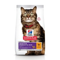 Croquettes pour chat sensible de plus d'1 an - HILL'S Science Plan Sensitive Stomach & Skin Adult