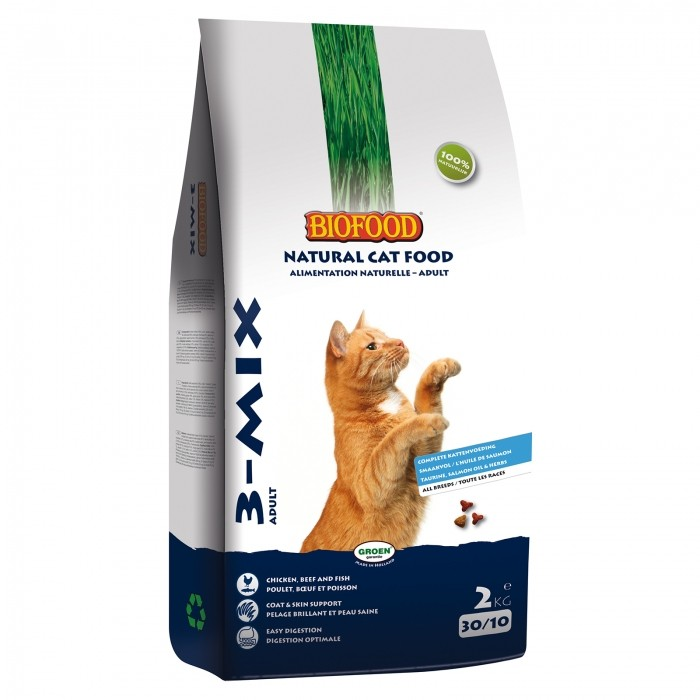 Alimentation pour chat - BIOFOOD 3-Mix pour chats
