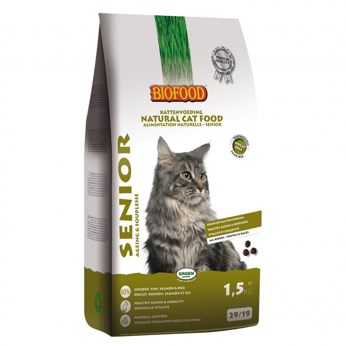 Alimentation pour chat - BIOFOOD Senior pour chats
