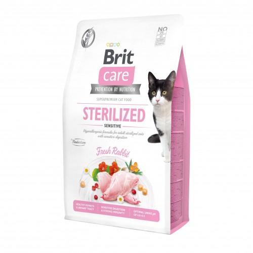 Alimentation pour chat - Brit Care Sterilized Sensitive pour chats