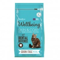 Croquettes pour chat - Burgess Wellbeing Peau et Pelage Sans Céréales
