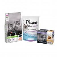 Croquettes, pâtées et litière pour chaton - PURINA PROPLAN Pack découverte Chaton