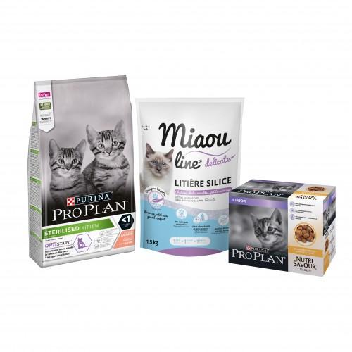 Alimentation pour chat - Proplan Pack Découverte pour chaton pour chats