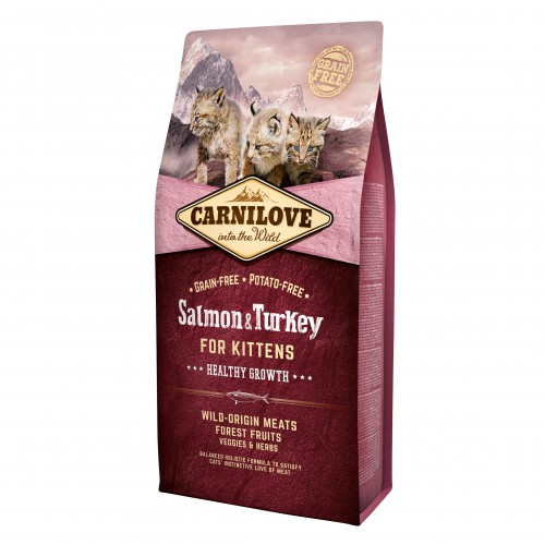 Alimentation pour chat - CARNILOVE Chaton Healthy Growth Saumon & dinde pour chats