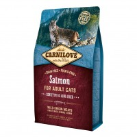 Croquettes pour chat - CARNILOVE Adult Sensitive & Long Hair Saumon