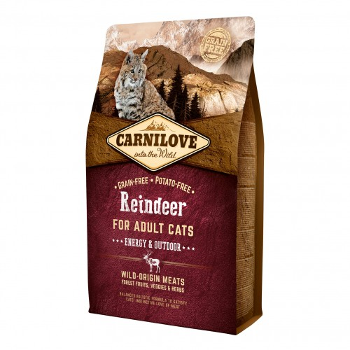 Alimentation pour chat - CARNILOVE Adult Energy Outdoor Renne pour chats