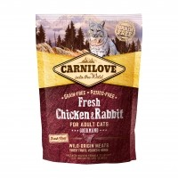 Croquettes pour chat - CARNILOVE Fresh Adulte gourmand Poulet & Lapin