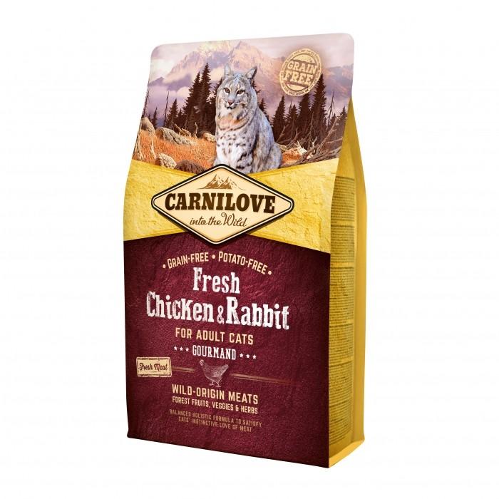 Alimentation pour chat - CARNILOVE Fresh Adulte gourmand Poulet & Lapin pour chats