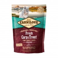 Croquettes pour chat - CARNILOVE Fresh Adult Sterilised Carpe & Truite