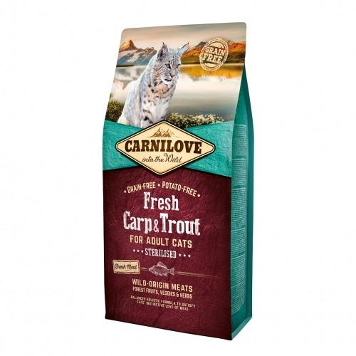 Alimentation pour chat - CARNILOVE Fresh Adult Sterilised Carpe & Truite pour chats