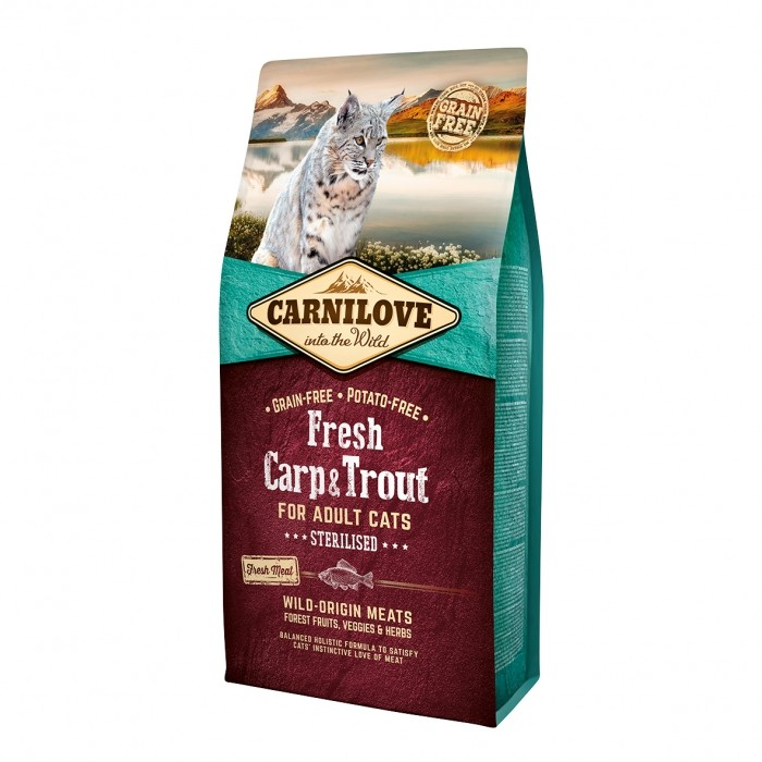 Alimentation pour chat - CARNILOVE Fresh Adult Sterilised Carpe & Truite pour chats
