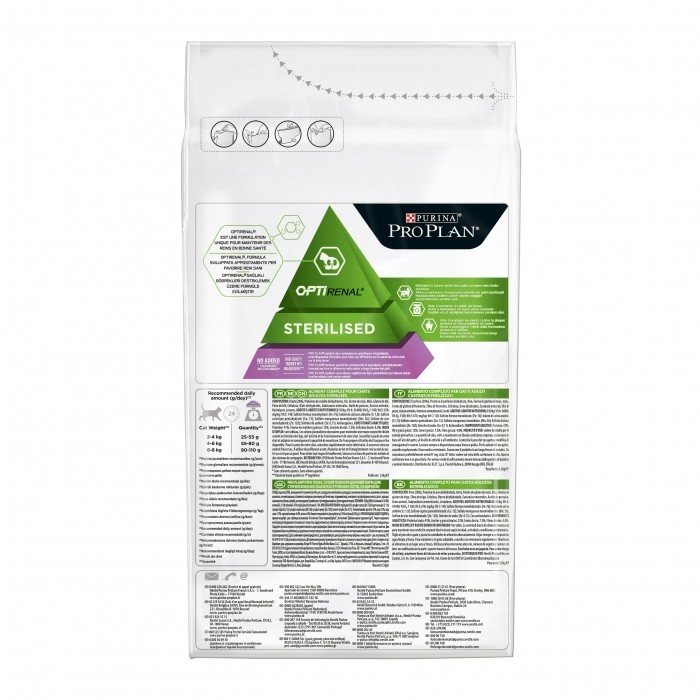 Alimentation pour chat - Proplan Sterilised Adult OptiRenal Dinde pour chats