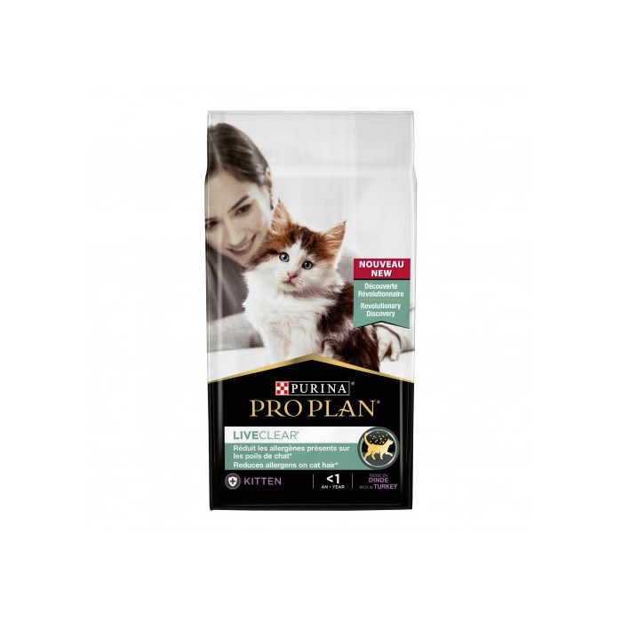 Alimentation pour chat - Proplan LiveClear Sterilised Kitten pour chats