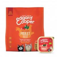 Croquettes et pâtées en boîte pour chat - Edgard & Cooper Pack Bio poulet Pack découverte BIO
