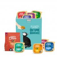 Croquettes et pâtées pour chat - Edgard & Cooper, Pack vacances pour chat Pack Vacances avec boîte hermétique