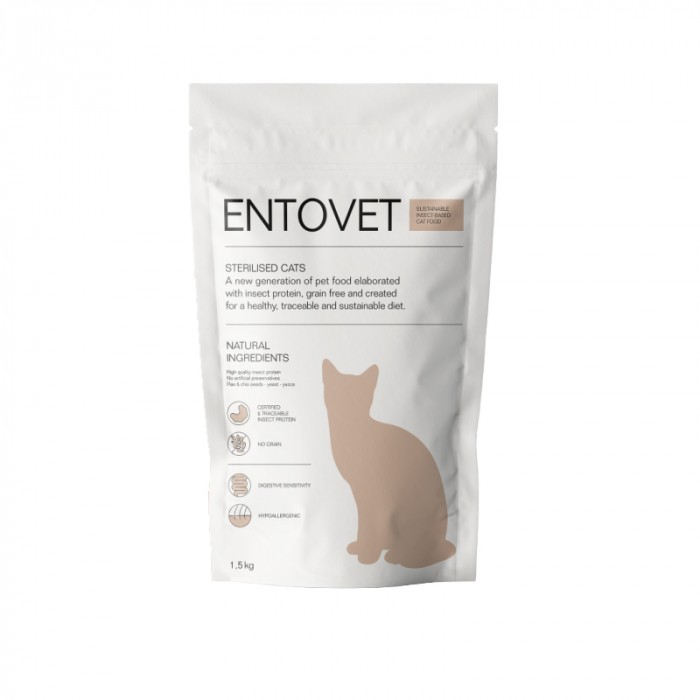 Alimentation pour chat - Entovet Croquettes aux protéines d'insectes - Adulte Stérilisé pour chats