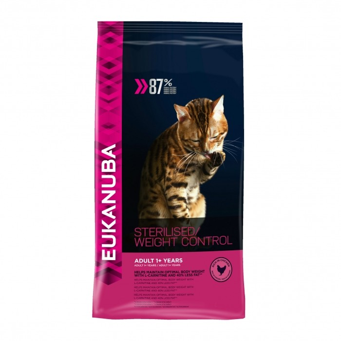 Alimentation pour chat - Eukanuba Adult 1+ Sterilised Weight Control pour chats