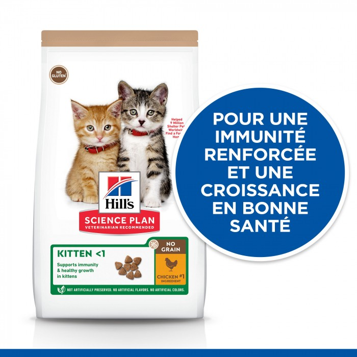 Alimentation pour chat - Hill's Science Plan No Grain Kitten pour chats