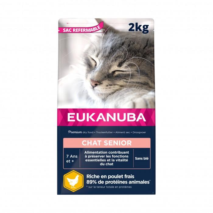 Alimentation pour chat - Eukanuba Adult 7+ Top Condition pour chats