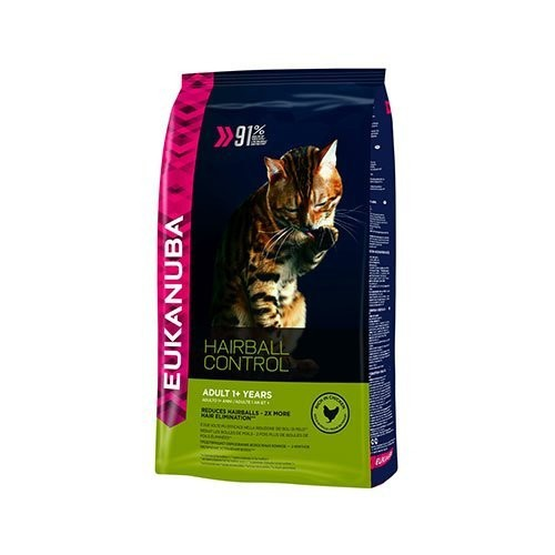Croquettes pour chat - EUKANUBA Hairball