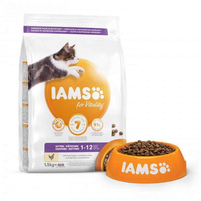 Alimentation pour chat - IAMS Vitality Kitten - Poulet pour chats