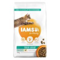 Croquettes pour chat - IAMS Vitality Adulte Sterilisé au poulet IAMS
