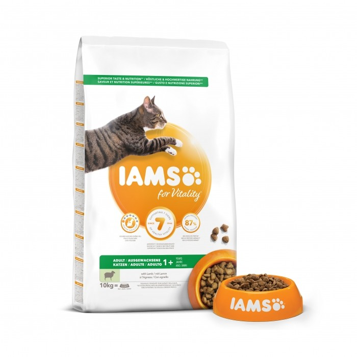 Alimentation pour chat - IAMS for Vitality Adult à l'agneau & poulet pour chats