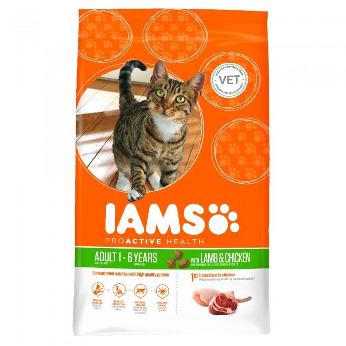 Alimentation pour chat - IAMS Adult à l'agneau & poulet pour chats