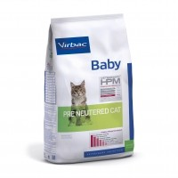 Croquettes pour chat - VIRBAC VETERINARY HPM Physiologique Baby Pre Neutered Cat
