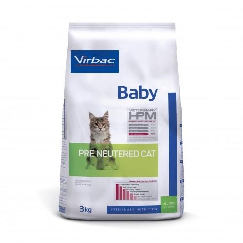 Alimentation pour chat - VIRBAC VETERINARY HPM Physiologique Baby Pre Neutered Cat pour chats