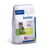 Croquettes pour chat - VIRBAC VETERINARY HPM Physiologique Junior Neutered Cat