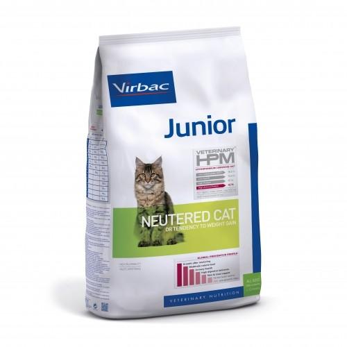 Alimentation pour chat - VIRBAC VETERINARY HPM Physiologique Junior Neutered Cat pour chats