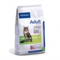 Croquettes pour chat - VIRBAC VETERINARY HPM Physiologique Adult avec saumon Neutered & Entire Cat