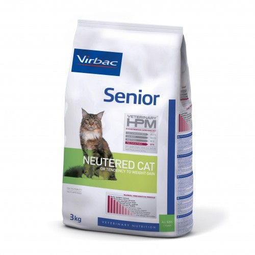 Alimentation pour chat - VIRBAC VETERINARY HPM Physiologique Senior Neutered Cat pour chats