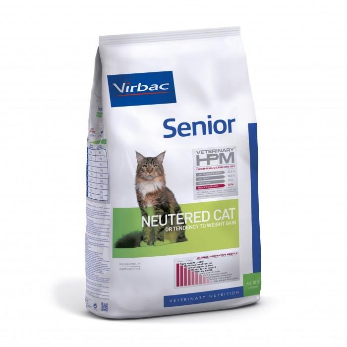 Alimentation pour chat - VIRBAC VETERINARY HPM Physiologique Senior Neutered Cat pour chats